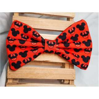 Minnie Mickey Disney Red  Handmade  , Dog Cat Bowties Bow tie , Clothing , Accessories , Pet Collars , Bandana,
