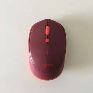 Logitech Wireless Mouse Bluetooth M337 red