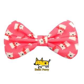 Pink  Snow Winter Polar Bear  , Handmade  , Dog Cat Bowties Bow tie , Clothing , Accessories , Pet Collars , Bandana,