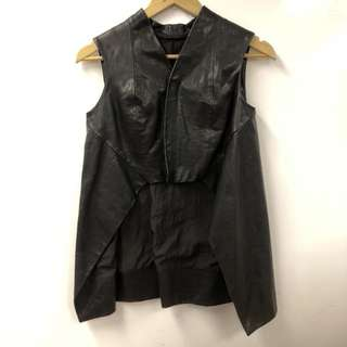 Rick Owen leather vest cardigan size I 38