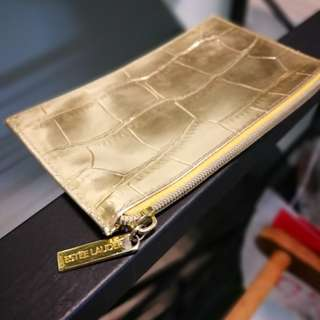 Authentic Estee Lauder Gold Mini Purse.