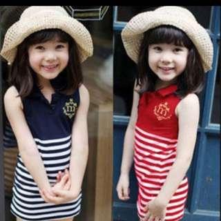 Cute Navy Stripe Dress