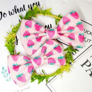 Strawberry Pink Fruit Handmade  , Dog Cat Bowties Bow tie , Clothing , Accessories , Pet Collars , Bandana,