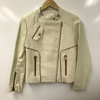 Maje leather with cotton jacket size 2
