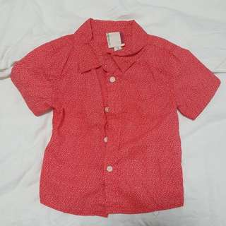 Cotton On Short Sleeve Red Shirt