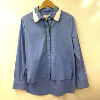New Carven blue shirt size 42