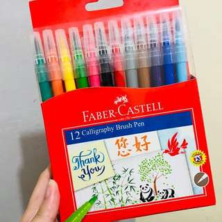 Faber Castell Calligraphy Brush Pen Set of 12