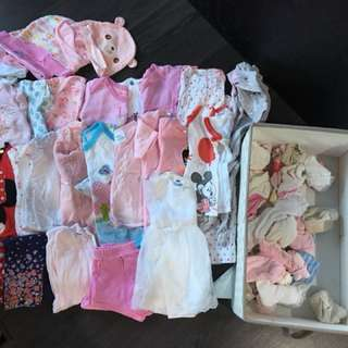 Preloved Baby Girl Clothes 0-3 mths