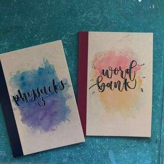 customised muji notebooks
