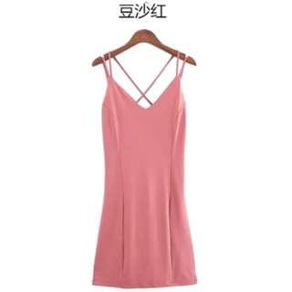 Pink Sexy Back dress