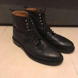 London walk mens black leather boots