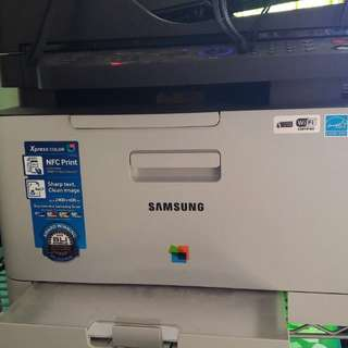 Color laser Printer with WIFI and three color toners