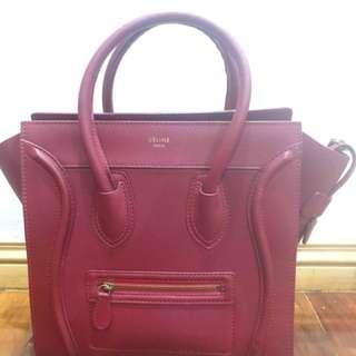 Authentic CÉLINE MINI LUGGAGE bag