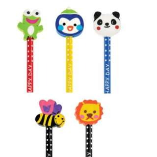 Pencil with Animal Eraser Topper