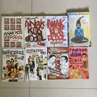 Paket Anak Kos Dodol series dan novel Raditya Dika