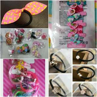 [Juniorcloset] Cartoon Shopkins Doc mcstuffins My little pony Bunny ears Peppa pig hairties Hair ties