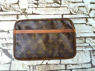 Authentic Louis Vuitton Compegne 23 cluthbag Made in France Datecode inside Condition Good  Whatsapp www.wasap.my/60137178534
