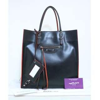 80% New BALENCIAGA 357330 Papier Zip Round 黑色 紅色 手提袋 手袋 Handbag in Black/Red
