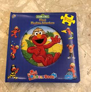 Sesame Street Elmo's playtime adventure puzzle book 5 puzzles