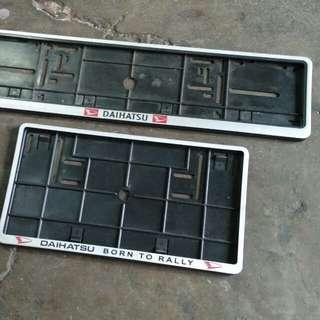 Frame Plate Daihatsu (2 pcs)