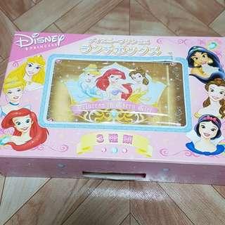 Disney Princess Lunch Box. (yellow) Made in Japan.