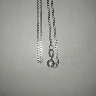 Silver Necklace Chain Rhodium Plated