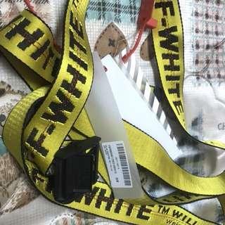 Off White Belt Yellow 2m