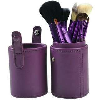 MAKE-UP BRUSH SET ISI 12PCS WITH CASE PURPLE