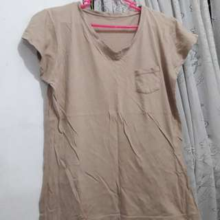 V-neck Light Brown #MoveOn