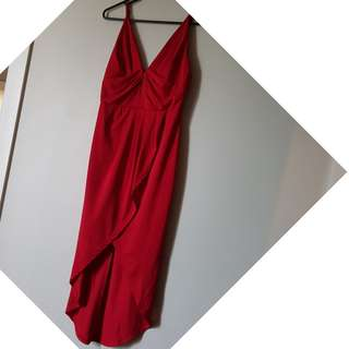Deep Red Party Dress