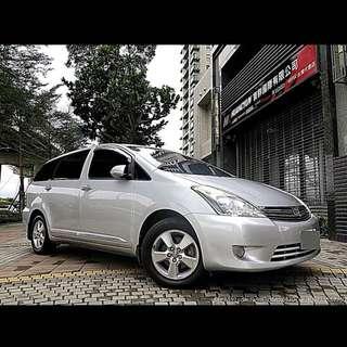全額貸專區:2007年豐田wish 2.0 省油又保值的休旅車 可履約保證無重大事故泡水非營業