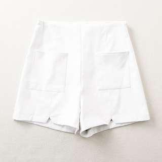 ❤️️ White Leather Shorts Hot Pants high quality high waist pants