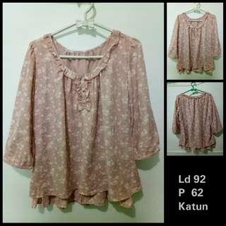 Atasan / Blouse / Cardigan / Blazer / Kemeja / Dress / Outer Ex Import sabrina pink