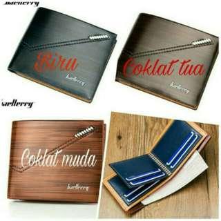 Dompet Pria Baellerry Pendek Original Premium. Warna : Biru, Coklat Tua, Coklat Muda.