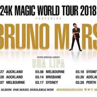 Bruno Mars 2018 4x Ticket Swap