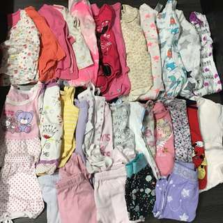 Preloved Baby Girl Clothes 6-12 mths
