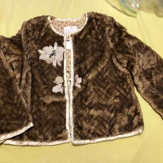 Chic Rebecca Taylor fun fur made in USA!
