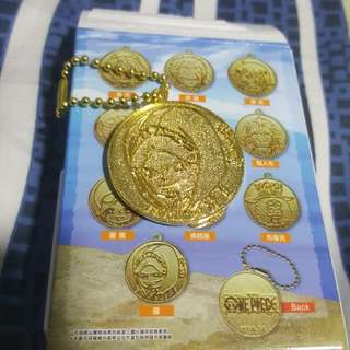 One piece gold keychain - law