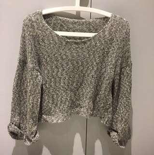 Oversize knit sweater cardigan stylish top 型格短身冷衫