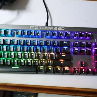 RGB Mechanical Keyboard (Red switch) Motospeed ck103