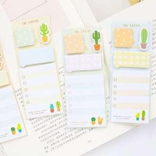 Cactus Multi Sticky Notes / Memo