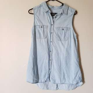 Just Jeans Sleeveless Denim Shirt