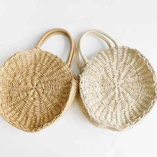 PO❗️Rattan Woven Round Handbag