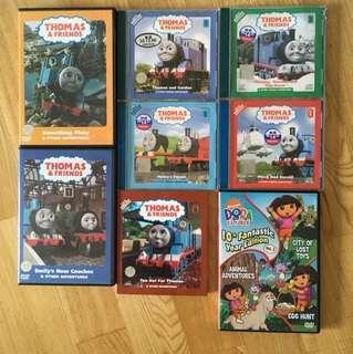 7 Thomas & Friends And 1 Dora the Explorer VCD / DVD