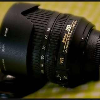 10/10 condition pre-owned Nikon AF-S DX Nikkor 18-105mm f/3.5-5.6G ED VR