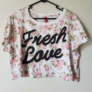 'Fresh Love' Crop Top