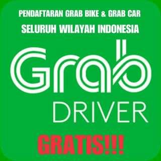 Pendaftaran Resmi Mitra GrabBike/GrabCar Seluruh Indonesia. GRATIS!!!!