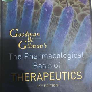 Goodman and Gilman's Therapeutics Hardbound Photocopied