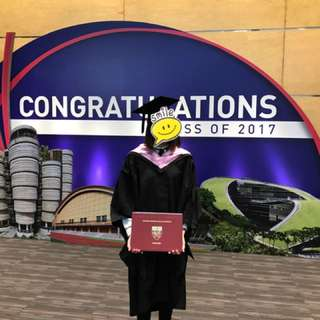 NIE master of education graduation gown