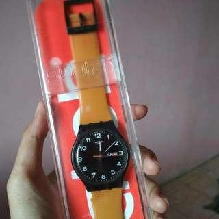 Preloved jam tangan swatch original bekas second seken pria